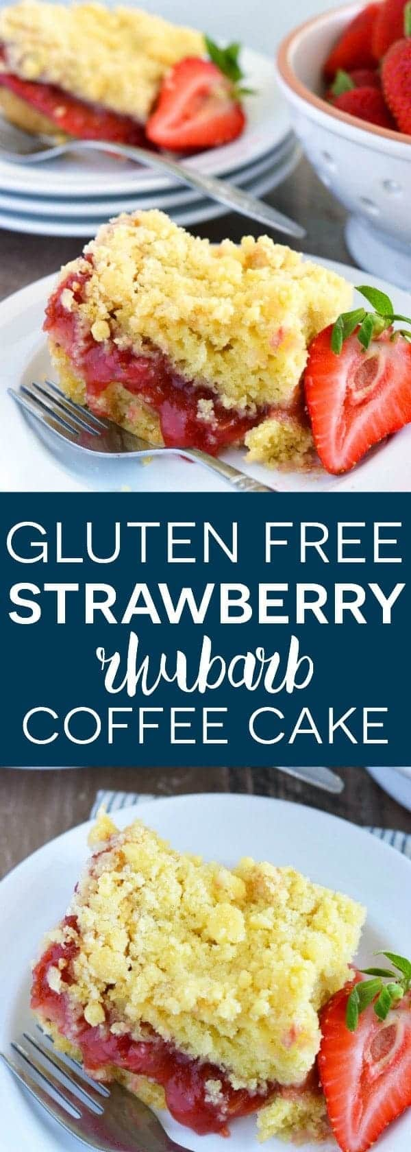 Gluten Free and Dairy Free Strawberry Rhubarb Coffee Cake from What The Fork Food Blog   whattheforkfoodblog.com