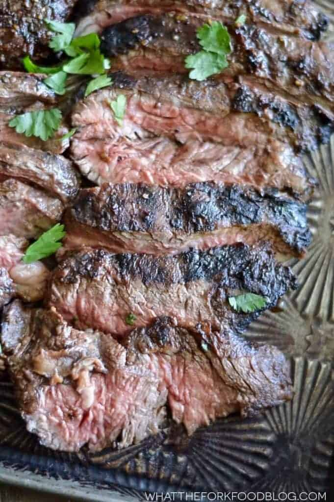 Marinated Grilled Skirt Steak from What The Fork Food Blog   whattheforkfoodblog.com