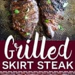 Simple marinated grilled skirt steak from What The Fork Food Blog | whattheforkfoodblog.com
