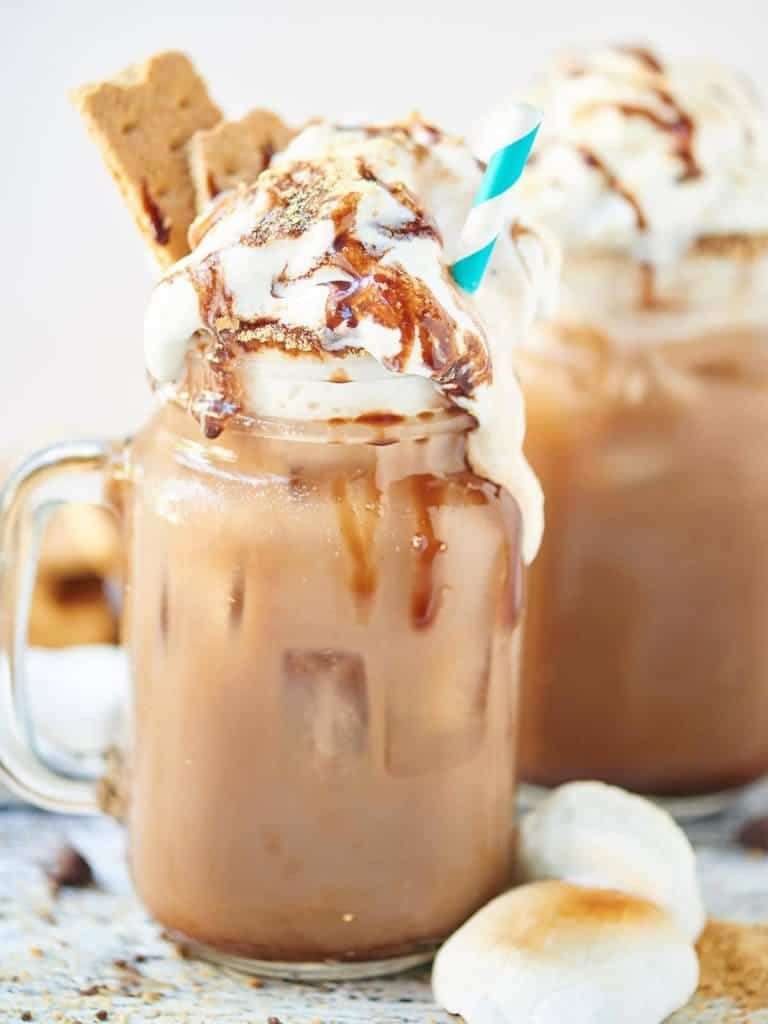 S'mores Iced Coffee plus 23 Coffee Drinks You Can Make at Home from What The Fork Food Blog | whattheforkfoodblog.com