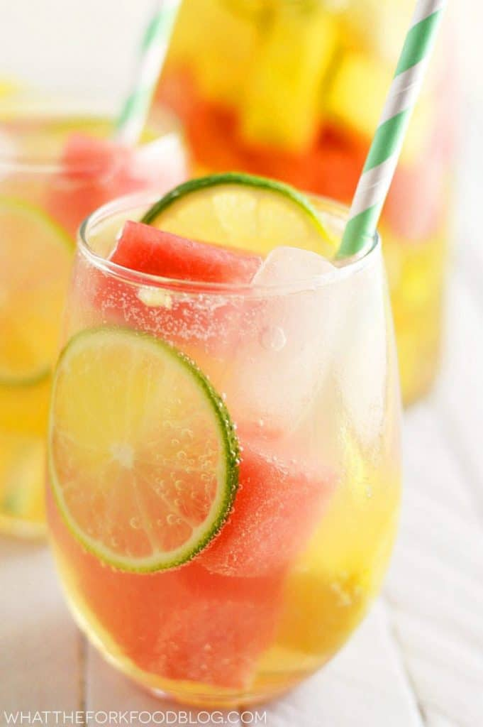 Summer Sangria With Watermelon And Pineapple What The Fork