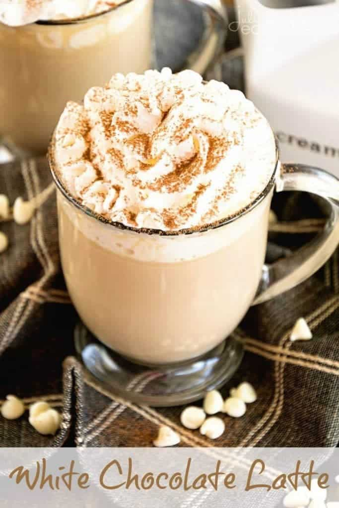 White Chocolate Latte plus 23 Coffee Drinks You Can Make at Home from What The Fork Food Blog | whattheforkfoodblog.com