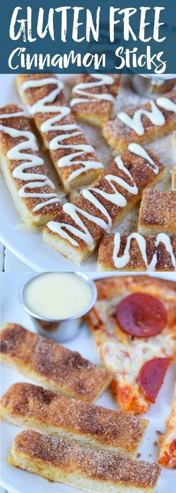 Gluten Free Cinnamon Sticks with cream cheese icing (dairy free). Recipe from @whattheforkblog | whattheforkfoodblog.com