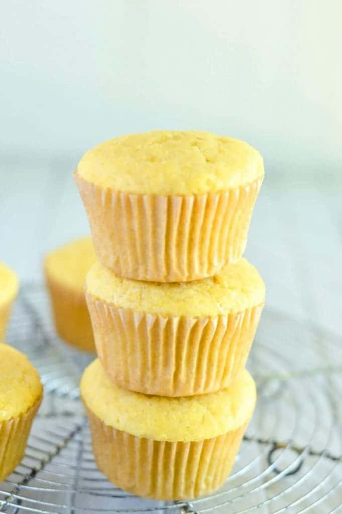 Easy Gluten Free Corn Muffin recipe from @whattheforkblog | gluten free and dairy free | whattheforkfoodblog.com