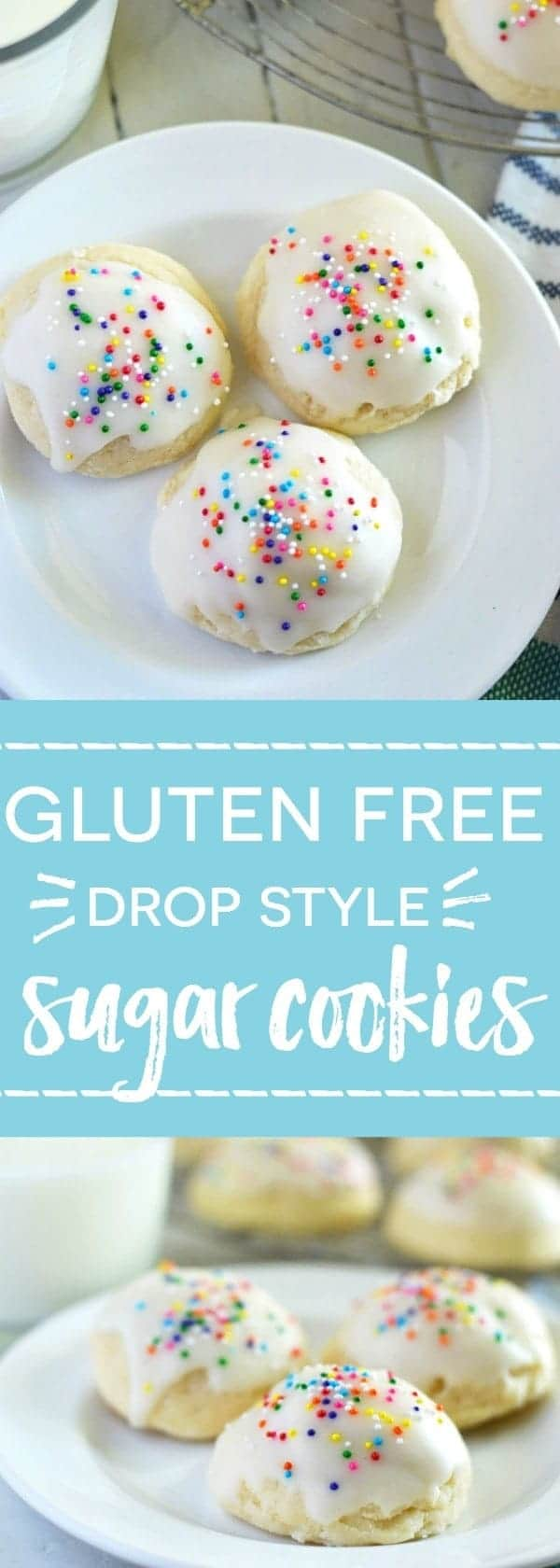 Gluten Free Drop Sugar Cookies (dairy free) - perfect for when you feel like sugar cookies but don't want all the extra work of rolling them out. Recipe from @whattheforkblog | whattheforkfoodblog.com