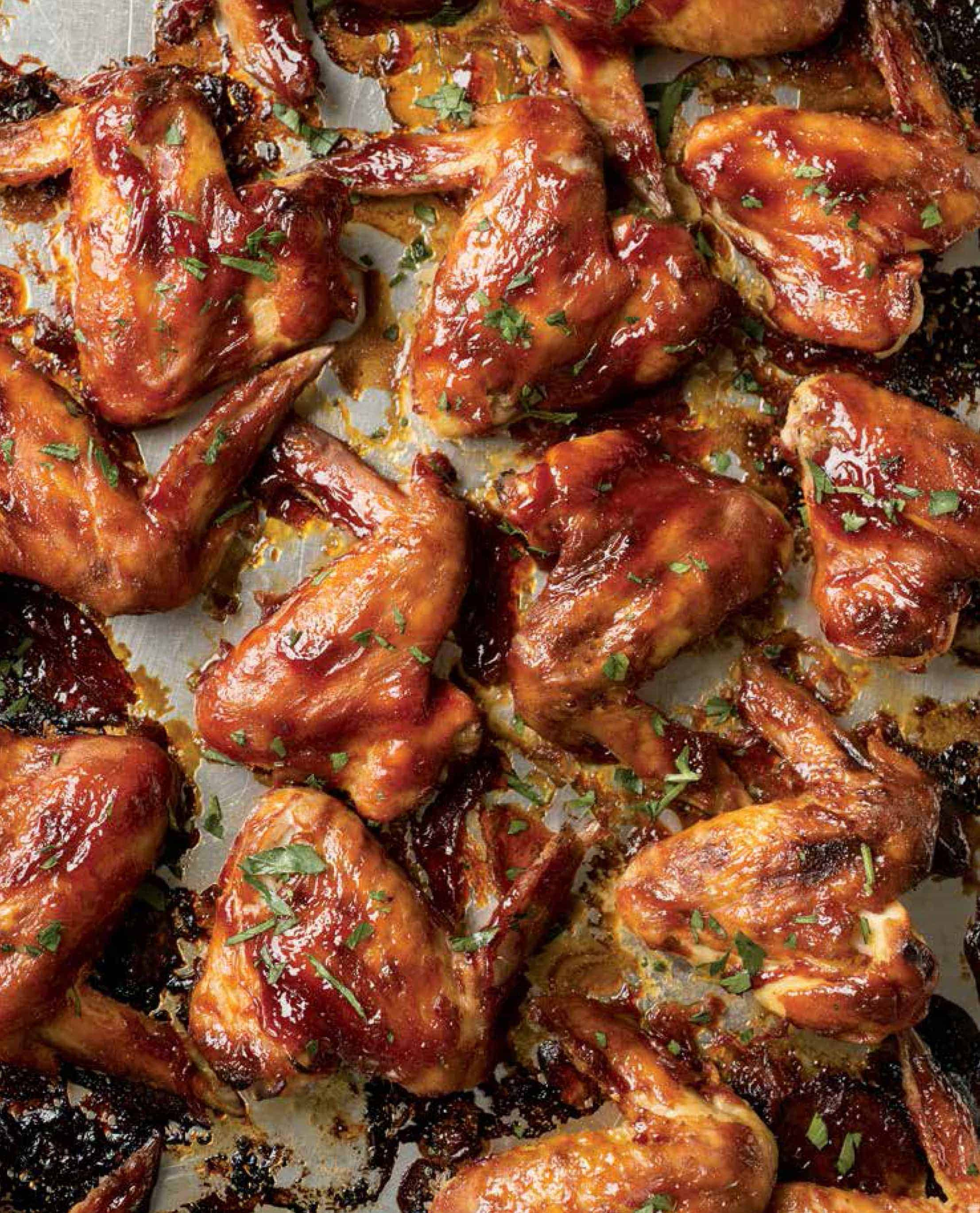Gluten Free Sticky Barbecue Wings and Cookbook Review