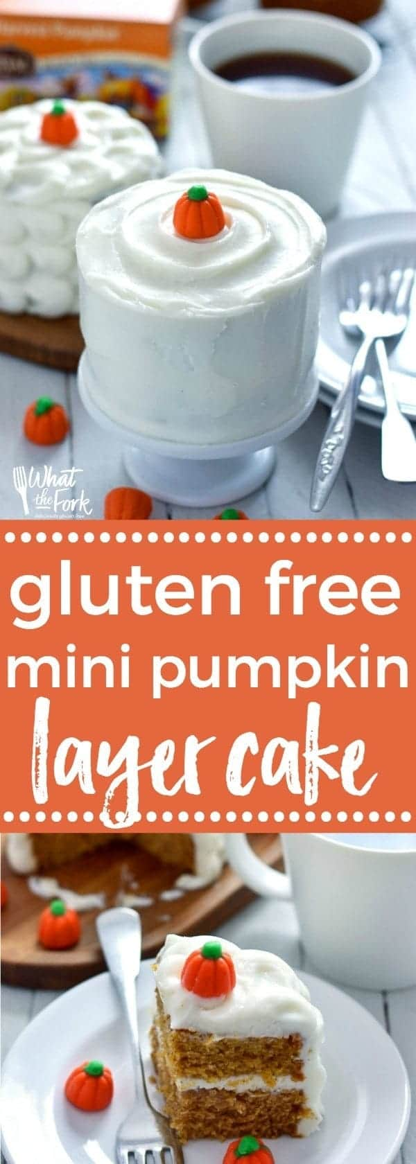 Gluten Free Mini Pumpkin Cake recipe from @whattheforkblog | whattheforkfoodblog.com | sponsored by Celestial Seasonings | gluten free and dairy free | gluten free cake | dairy free cake | gluten free desserts | gluten free pumpkin cake | gluten free pumpkin recipes | recipes with pumpkin | recipes for leftover pumpkin | pumpkin recipes | easy pumpkin recipes | small batch recipes | mini cakes | how to make mini cakes | how to make pumpkin cake | how to make cake in a ramekin