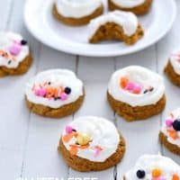 Gluten Free Pumpkin Cookies with Cream Cheese Frosting