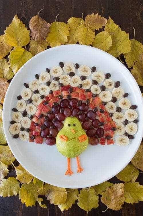Turkey fruit platter plus your ultimate guide to a gluten free Thanksgiving on What The Fork | @whattheforkblog | whattheforkfoodblog.com