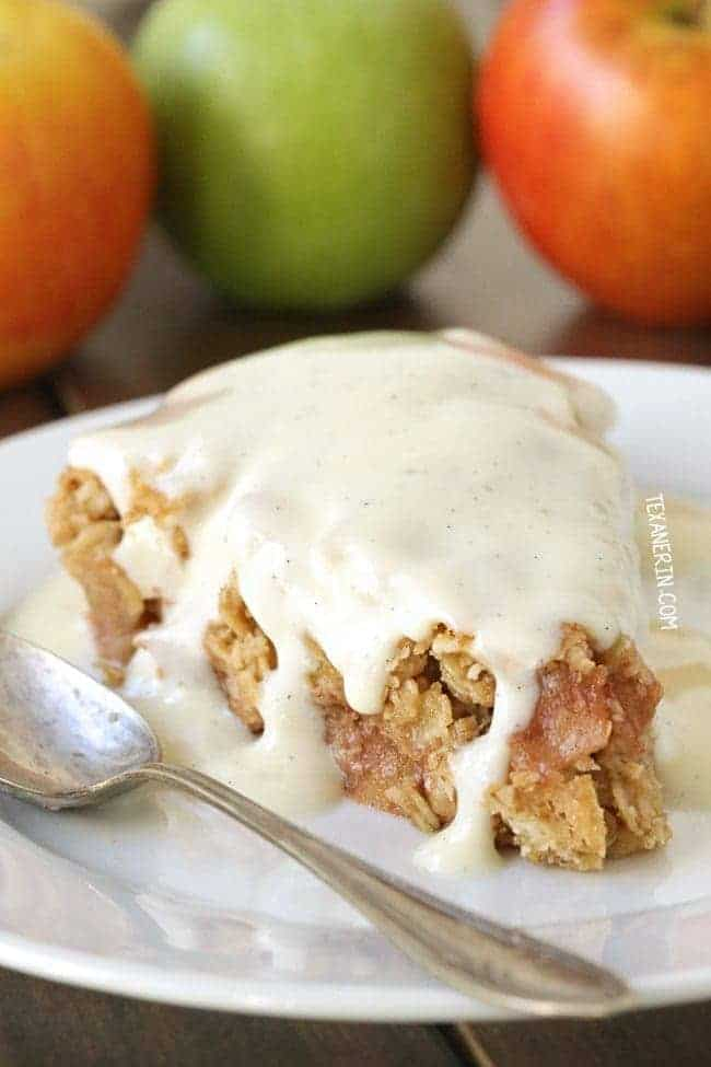 Gluten Free Swedish Apple Pie recipe plus your ultimate guide to a gluten free Thanksgiving on What The Fork | @whattheforkblog | whattheforkfoodblog.com