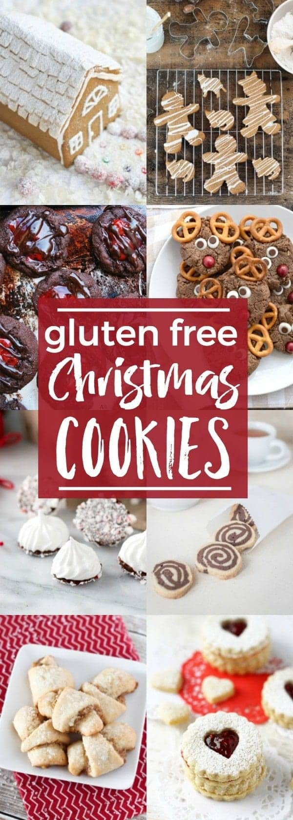 A complete list of gluten free Christmas Cookies - all the classics are here! @whattheforkblog | whattheforkfoodblog.com | holiday baking | gluten free cookies | homemade cookies | gluten free cookie recipes