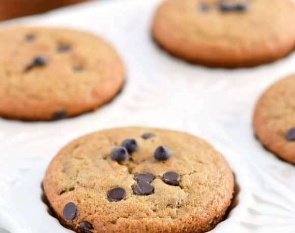Gluten Free Cranberry Chocolate Chip Muffins (vegan)