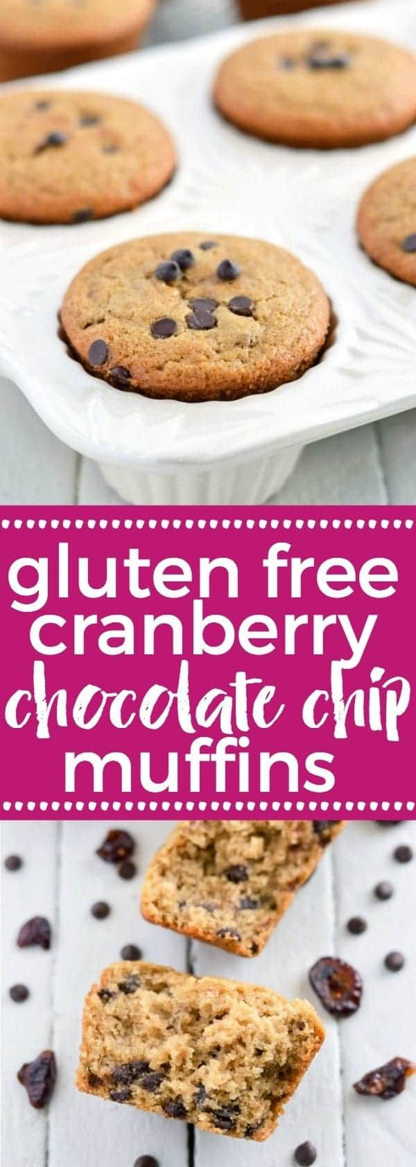 Gluten Free Cranberry Chocolate Chip Muffins - nut free and vegan (top 8 free). Easy breakfast recipe from @whattheforkblog | whattheforkfoodblog.com | gluten free breakfast recipes | gluten free muffins | vegan recipes | allergy-friendly | Christmas brunch ideas | easy breakfast ideas | gluten free baking | sponsored | muffin mix hack