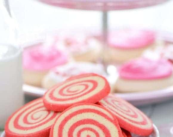 Gluten Free Cherry Pinwheel Cookies