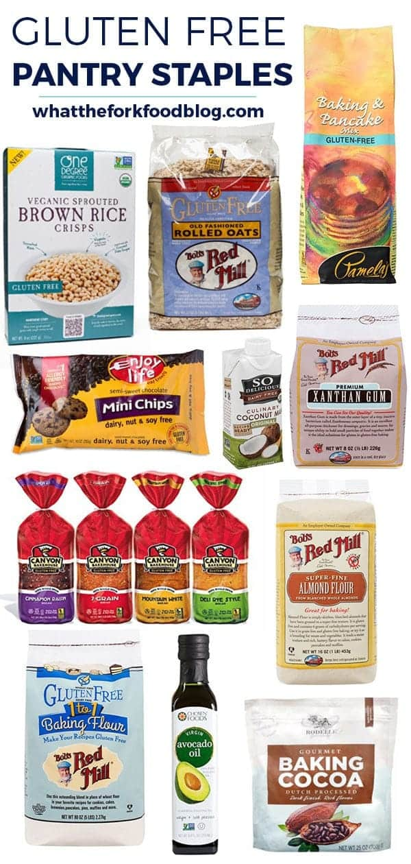 Gluten Free Pantry Staples from @whattheforkblog | whattheforkfoodblog.com | gluten free baking | gluten free cooking | gluten free ingredients | gluten free recipes