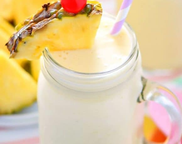 Healthy Piña Colada Smoothies