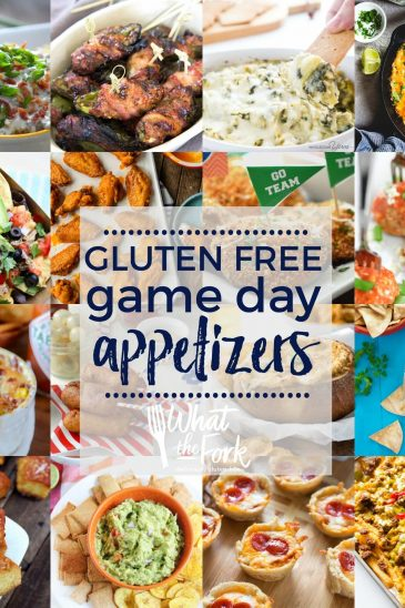 All the gluten free snacks and gluten free game day appetizers you need to get your party started! | @whattheforkblog | whattheforkfoodblog | game day food | party food | gluten free appetizers | gluten free snacks | finger foods and dips | party snacks | party food