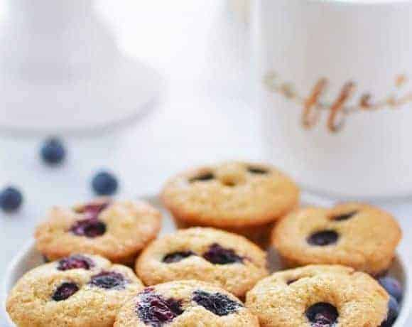 Gluten Free Mini Blueberry Muffins