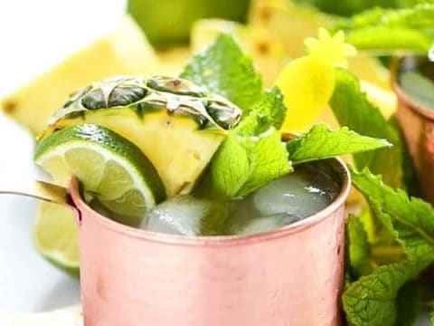 Simple Pineapple Moscow Mule Recipe What The Fork