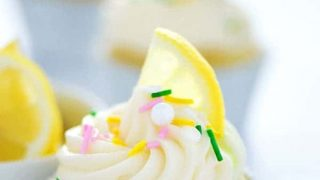 Gluten Free Lemon Cupcakes with Cream Cheese Frosting