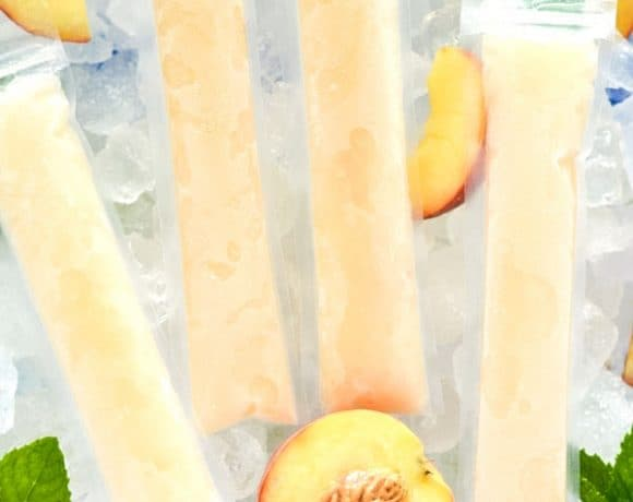 How to Make Peach Prosecco Popsicles