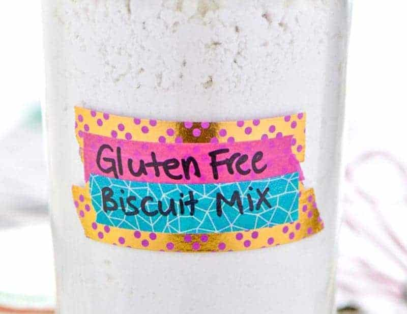 Homemade Gluten Free Biscuit Mix - this is the shortcut you need to get hot gluten free biscuits on the table any night of the week! Easy recipe from @whattheforkblog | whattheforkfoodblog.com | homemade baking mixes | how to make gluten free biscuits | gluten free Bisquick mix | gluten free baking | the best gluten free biscuits | light and flaky biscuits | gluten free biscuits that don't suck | gluten free drop biscuits | southern biscuits