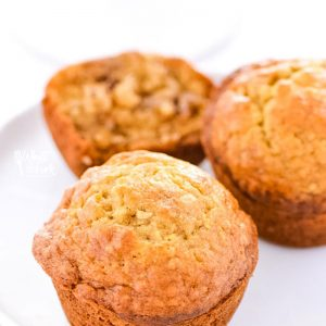 Super easy Gluten Free Banana Nut Muffins make a great breakfast! Make them on the weekends for brunch or make them ahead of time for grab-and-go week day breakfasts. Gluten free breakfast recipe from @whattheforkblog | whattheforkfoodblog.com | gluten free muffin recipes | how to make gluten free muffins | recipes for over-ripe bananas | homemade banana muffins | dairy free option | nut free option |