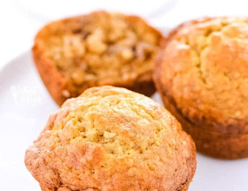 Super easy Gluten Free Banana Nut Muffins make a great breakfast! Make them on the weekends for brunch or make them ahead of time for grab-and-go week day breakfasts. Gluten free breakfast recipe from @whattheforkblog   whattheforkfoodblog.com   gluten free muffin recipes   how to make gluten free muffins   recipes for over-ripe bananas   homemade banana muffins   dairy free option   nut free option  