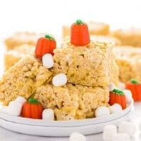 Gluten Free Pumpkin Spice Rice Krispies Treats