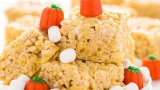 Gluten Free Pumpkin Spice Rice Krispies Treats