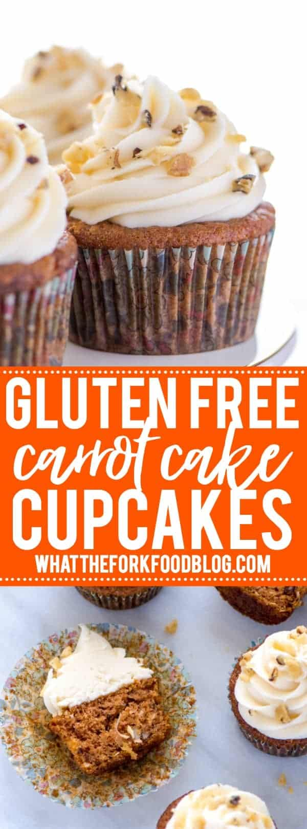 Gluten Free Carrot Cake Cupcakes Pinterest collage