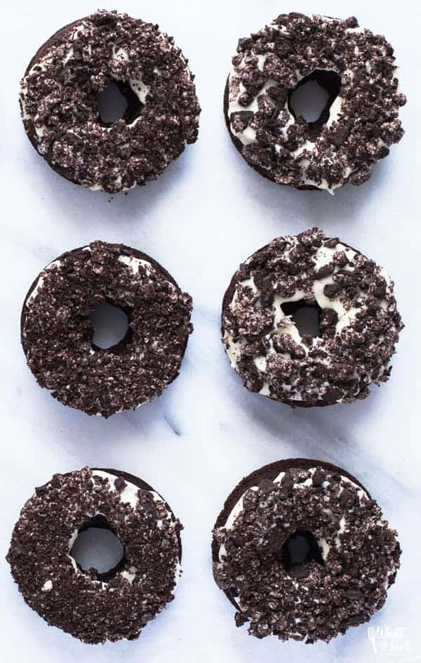 Gluten Free Cookies and Cream Donuts - What the Fork