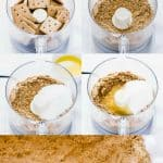 How to Make a Graham Cracker Crust collage image with text for Pinterest