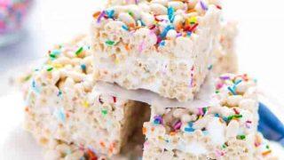 Gluten Free Cake Batter Rice Krispie Treats