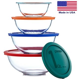 Pyrex Smart Essentials Mixing Bowl Set Including Locking Lids
