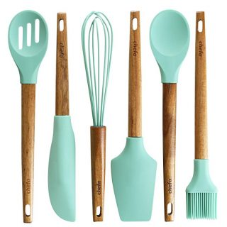 Silicone Baking Utensils, Acacia Hard Wood Handle