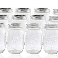 Jarden 12 Ball Mason Jar with Lid - Regular Mouth - 16 oz