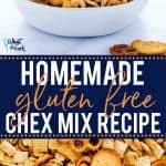 Everybody's favorite party snack is now gluten free! This gluten free Chex Mix recipe is easy to make and there's even a dairy free option! This snack mix is great for any kind of party, game day snacks, tailgating, or school snacks. It makes a TON too! Easy gluten free snack recipe from @whattheforkblog - visit whattheforkfoodblog.com for more! #glutenfree #ChexMix #snackmix #glutenfreefood #glutenfreerecipes #easyrecipes #snacks #snackrecipes #homemade #partyfood