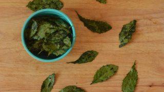 Crispy Baby Kale Chips