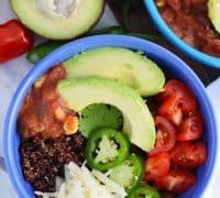 Beef and Quinoa Taco Bowls