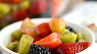 Easy Fruit Salad for TwoCoconut Sugar Simple Syrup