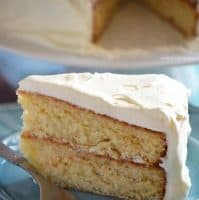 Eggnog Cake with White Chocolate Ganache Whipped Cream Frosting