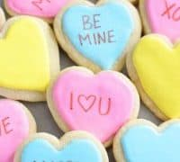 Gluten Free Conversation Heart Cookies