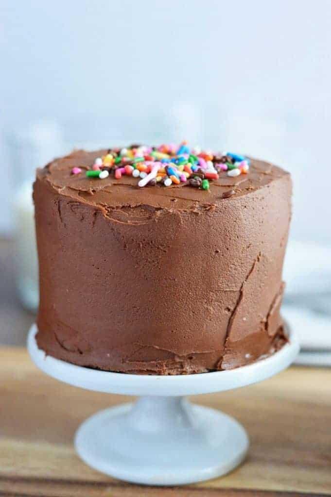 Tremendous Mini Chocolate Layer Cake Recipe What The Fork Funny Birthday Cards Online Hendilapandamsfinfo