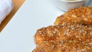 Pretzel Crusted Chicken Spicy Honey Mustard Dipping Sauce