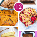 12 of the BEST gluten free quick bread recipes! There's something for every one here including banana breads, fruit breads, chocolate breads, and more. These quick breads are easy to make and taste amazing! Recipes from @whattheforkblog - visit whattheforkfoodblog.com for more gluten free baking recipes.