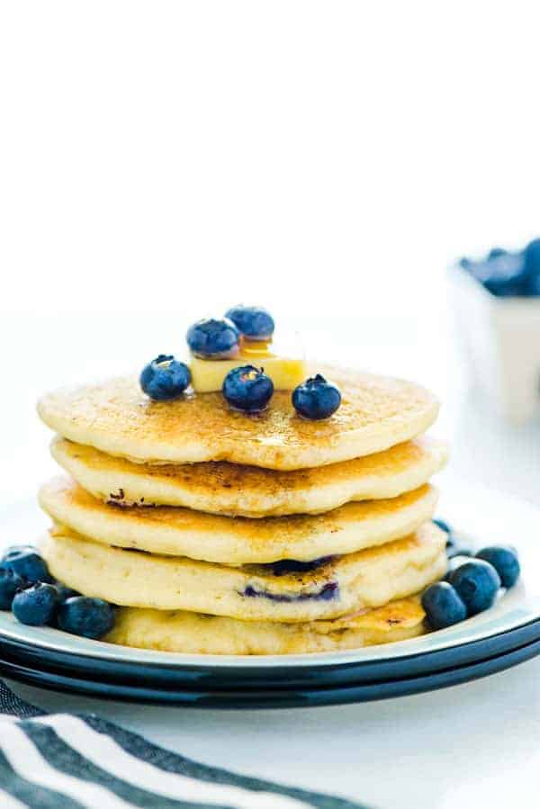 Fluffy Gluten Free Blueberry Pancakes