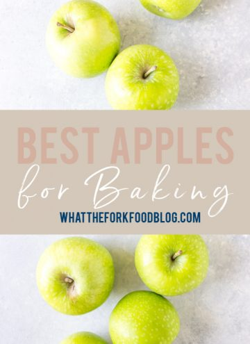Image of Apples with text of the best apples for baking