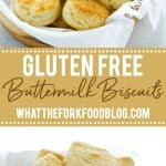 This is the best recipe for gluten free buttermilk biscuits! These biscuits are light, fluffy, with amazing flavor and texture. They've got a nice crisp bottom and beautifully browned top. If you've been missing true biscuits since starting a gluten free diet, this is the recipe you need to try! This post is full of gluten free baking tips plus a recommendation for the best gluten free flour blend for these biscuits. #glutenfree #biscuits #glutenfreebiscuits #glutenfreebaking #glutenfreerecipes