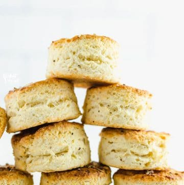 gluten free parmesan black pepper biscuits stacked